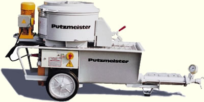 механизированная штукатурка стен Putzmeister